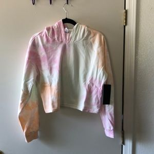 90 Degree by Reflex Cropped Hoodie Size L NWT